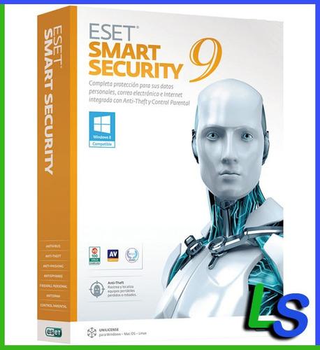 eset smart security 9 - 1 año 15 computadoras - facturamos