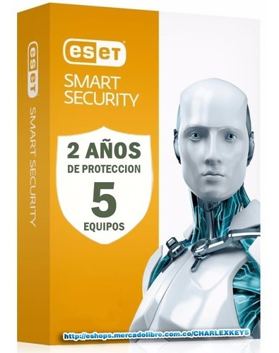 eset smart security antivirus original 5 pc 2 años