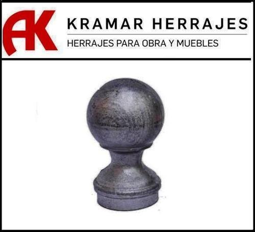 esfera bocha reja  aluminio encastre caño 63 mm