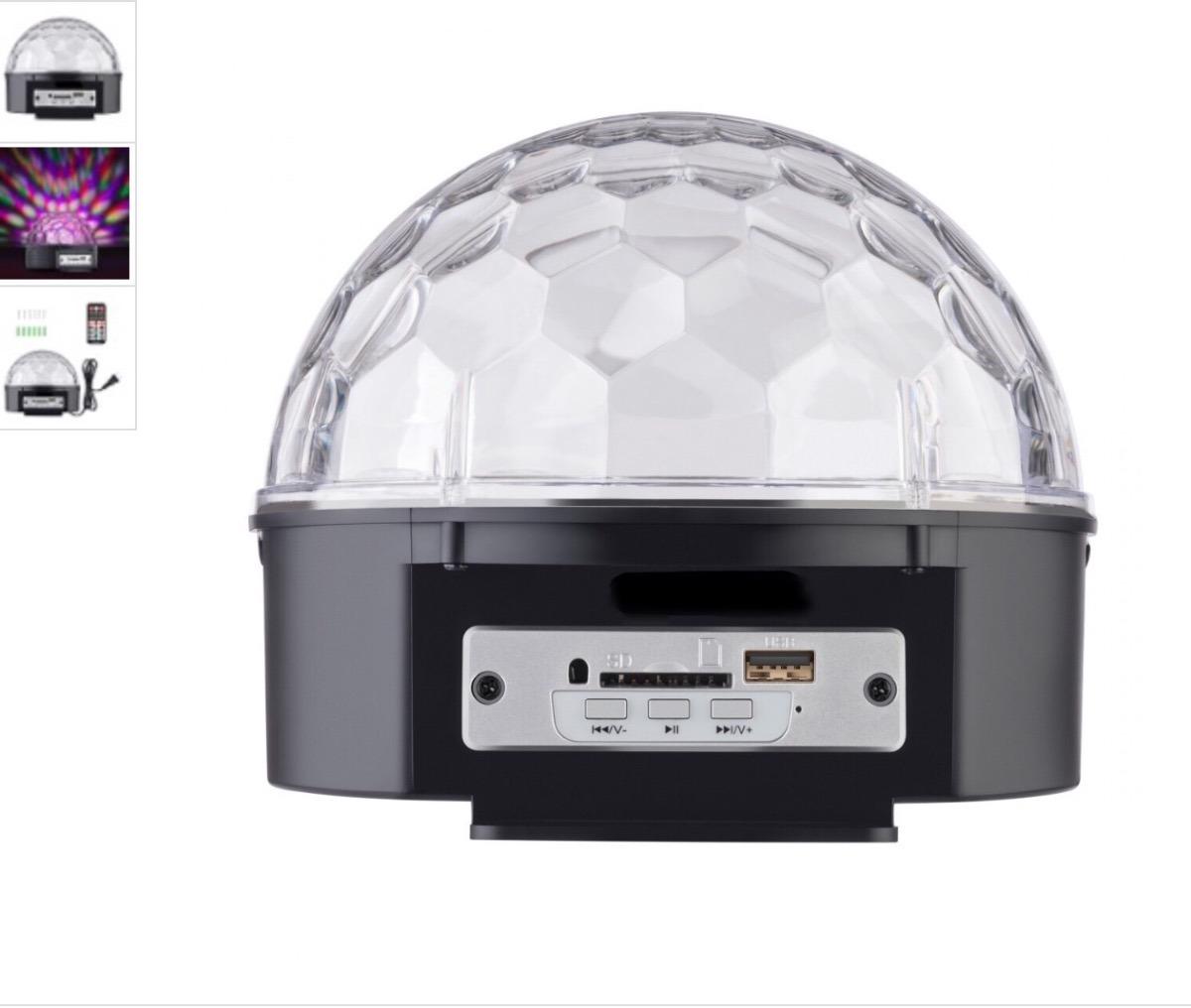 d159bf1b097 esfera de luces led con bocinas y reproductor usb sd led. Cargando zoom.