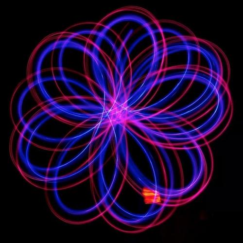 esfera de luz led poi silicon 6 colores 1pza g1001
