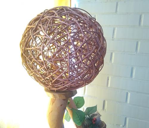 esfera de mimbre 30 cms ( unidad )