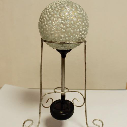 esfera decorativa solar chica con base