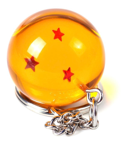 esfera del dragon llavero 3 estrella dragon ball goku vegeta