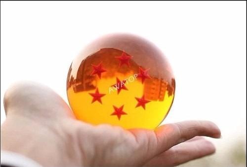 esfera do dragão 4 estrelas tamanho real 7,5cm sob encomenda