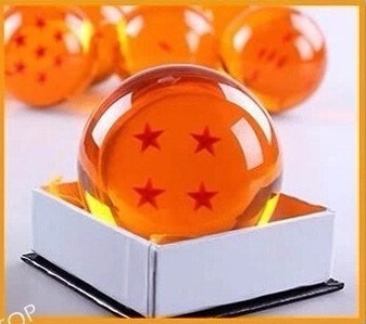 esfera do dragão 7 estrelas tamanho real 7,5cm sob encomenda