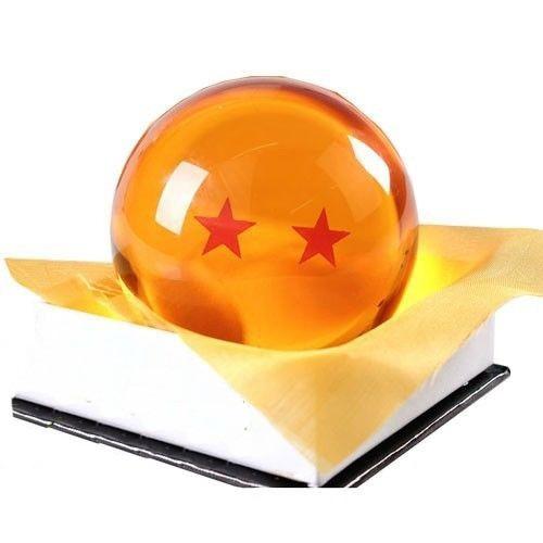 esfera do dragão dragon ball tamanho real 2 estrelas anime