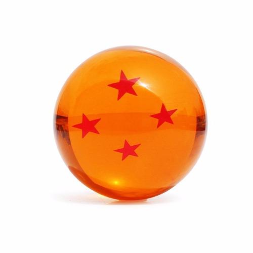 esfera dragon ball z grande 4 estrelas 7cm tamanho real dbz