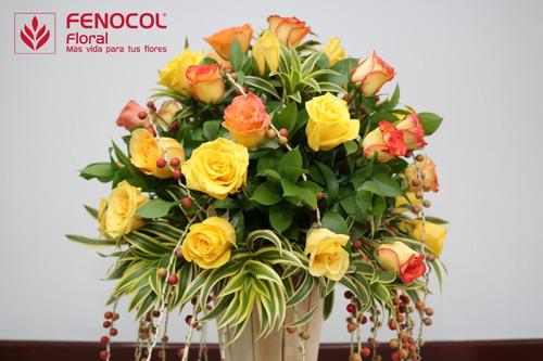 esfera floral #20 con malla -  caja por 8 unidades