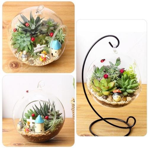 esfera florero hidroponica terrario colgante feng shui