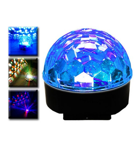 esfera luz led rgb rotativa profesional secuen audior xaris