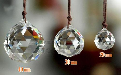 esfera piedra cristal 37 x 30 mm cortina candil tira 40% off