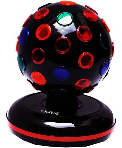 esfera que gira 360° con luces rgb con base es fenomenal wow
