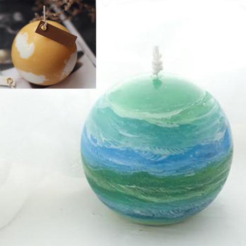 esfera transparente forma de bola fabricación de velas