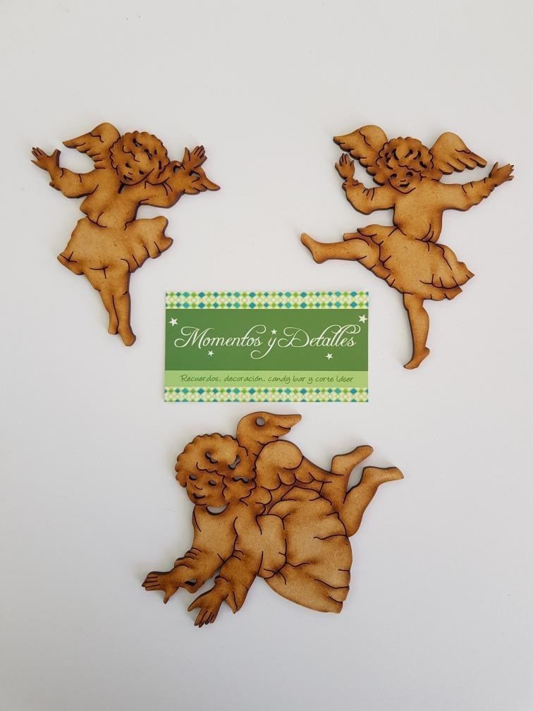 Esferas angeles querubines mdf adornos rbol de navidad for Adornos navidenos mercadolibre