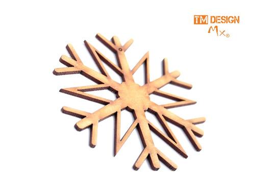 esferas copos de nieve corte laser navidad original 5cm