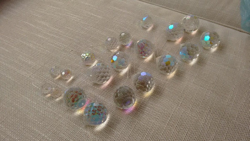 esferas de cristal facetado, feng shui para armonizar 5 cm