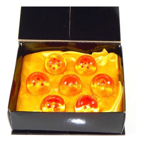 esferas de dragon ball z super 4cm estuche exhibidor naranja