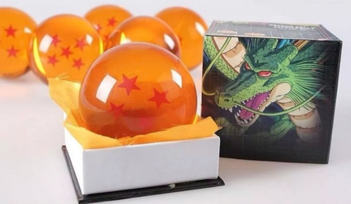 esferas de dragon ball z tamaño real 7.6cm+ estuche original