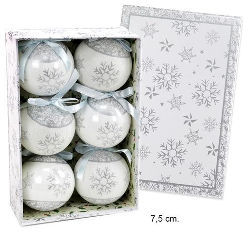 esferas de navidad acabado brillante empaque con 6 unidades