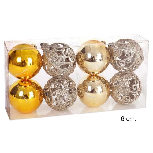 esferas de navidad de colores empaque de 8