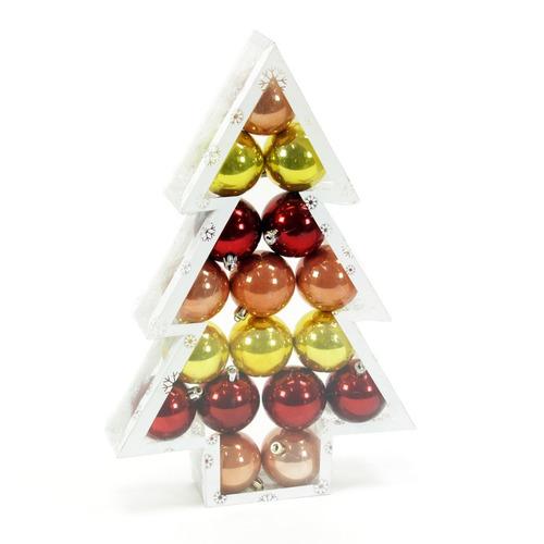 esferas de navidad perla color oro 3 tonos 17 esferas