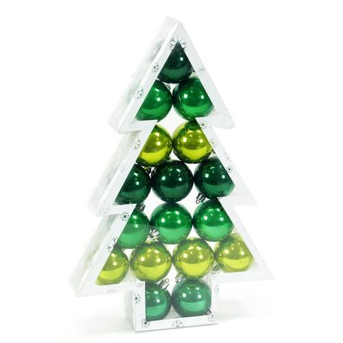 esferas de navidad perla color verde 3 tonos 17 esferas