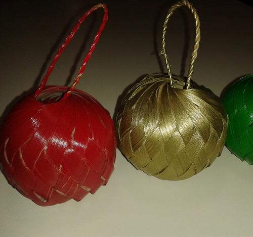 esferas de palma (por docena /artesanales)