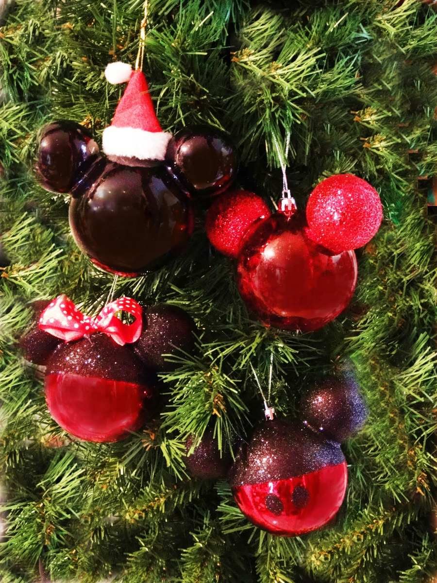 Esferas decorativas mimi mickey disney santa adorno for Articulos de decoracion para navidad