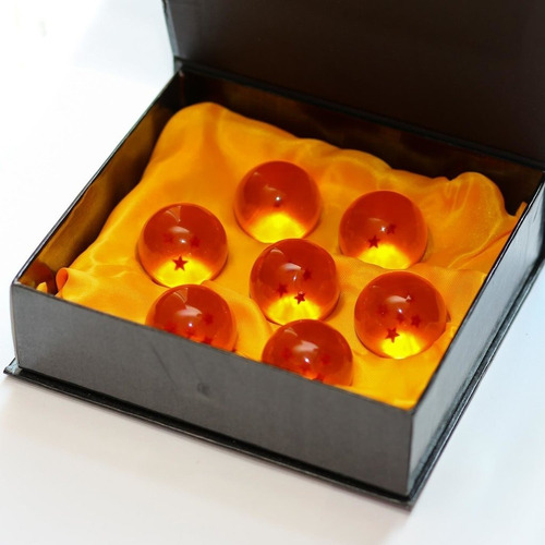 esferas del dragon dragon ball z 4.5 cm set con caja