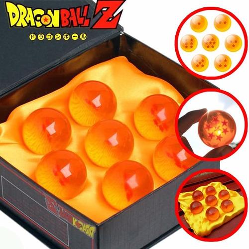 esferas del dragon setx7 bandai 7.6cm tamaño real