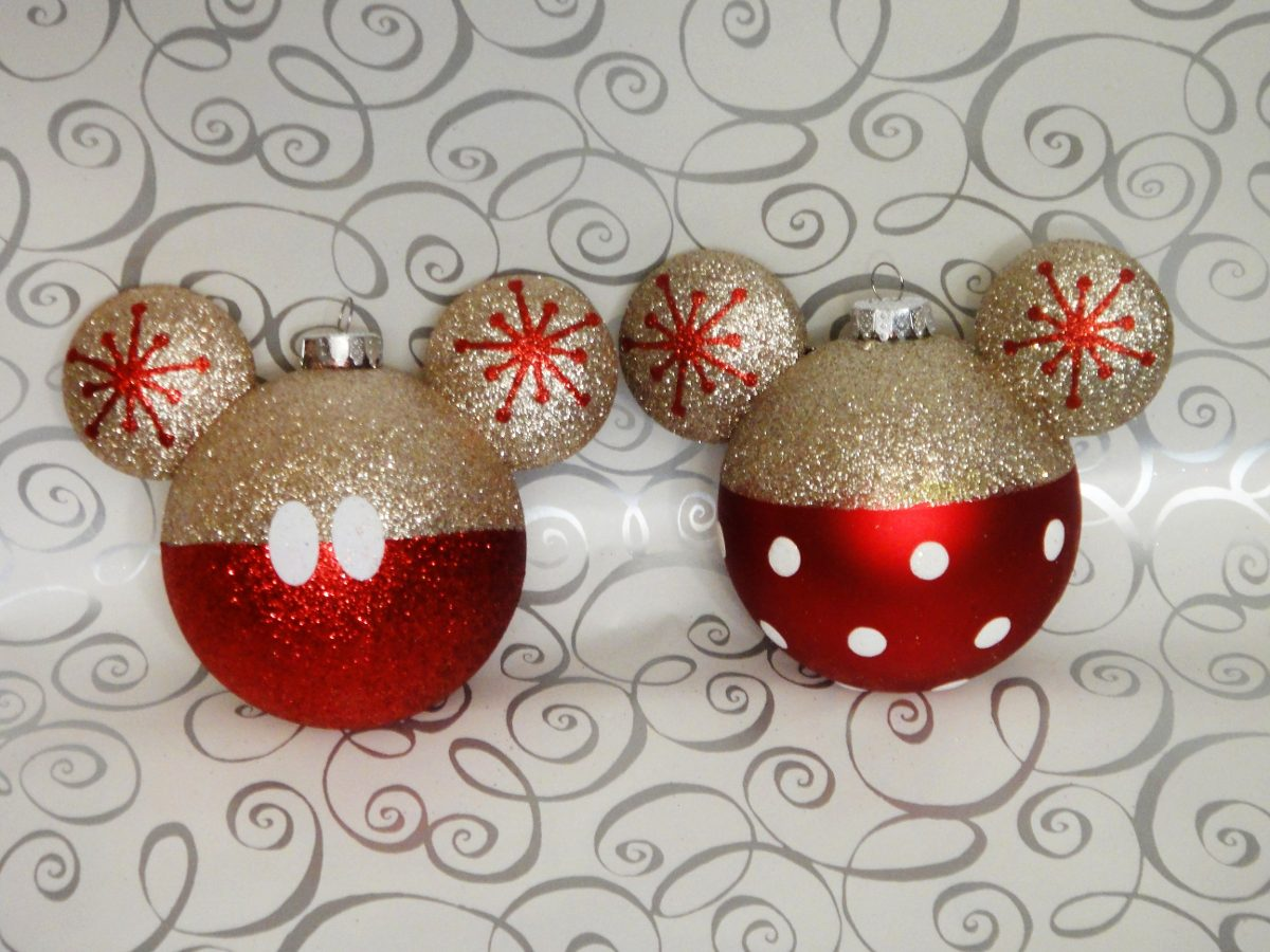 Mickey Mouse Decoracion Navidad ~ Esferas Doradas Y Rojo Mickey Mouse Y Minnie Navide?a Mimi  $ 309 00