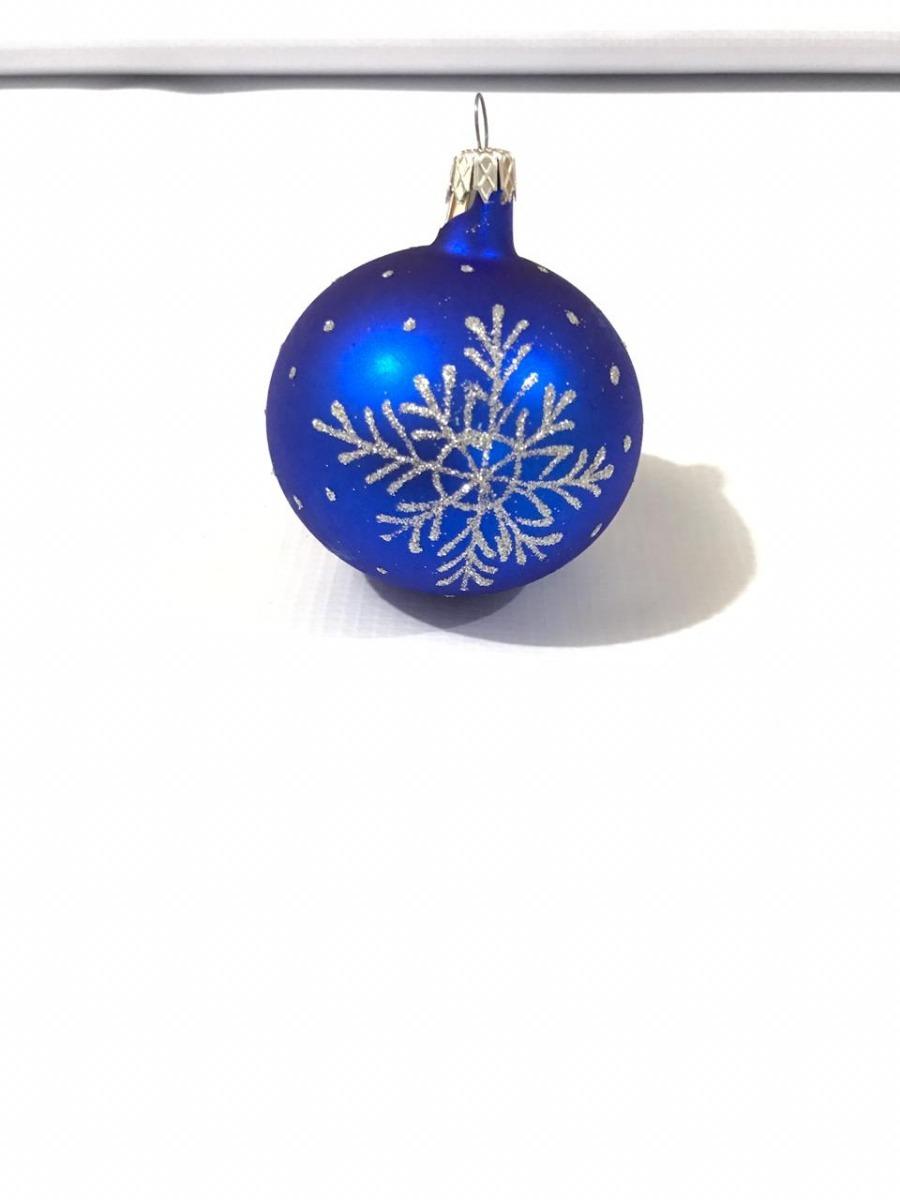 713f0185fc68a Esferas Navideñas Artesanales Azules Copo De Nieve -   229.00 en ...