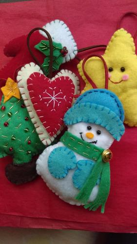 esferas navideñas de fieltro 100% a mano 12 piezas
