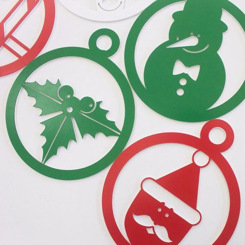 esferas navideñas impresas en trovicel de 12cm de alto