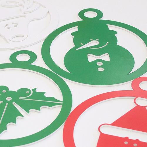 esferas navideñas impresas en trovicel de 15cm de alto