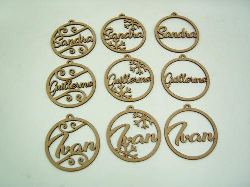 esferas navideñas personalizadas nombres láser 10 piezas