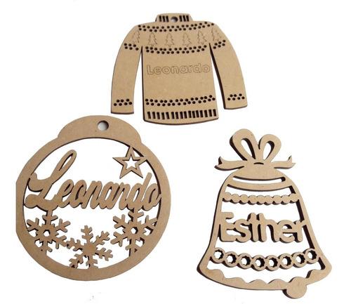 esferas  personalizada navidad   con nombre 10cm