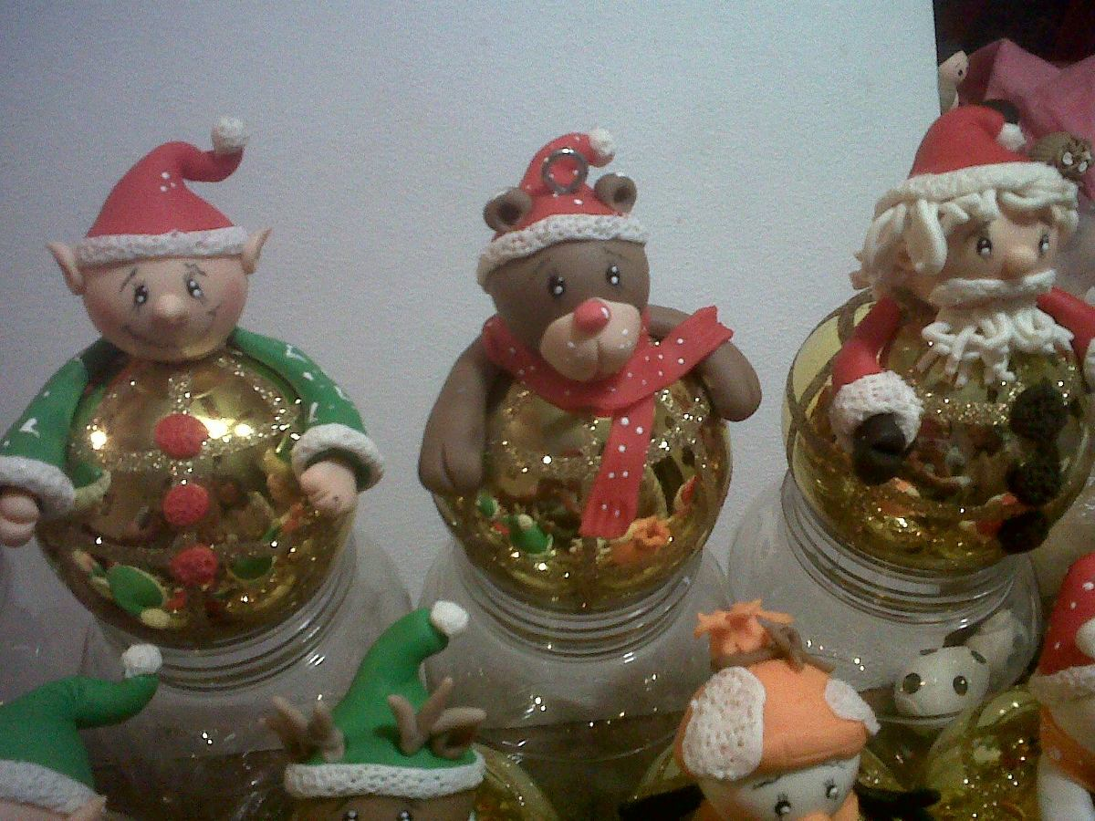 Esferas y figuras de pasta flexible en mercado libre - Como hacer figuras de navidad ...