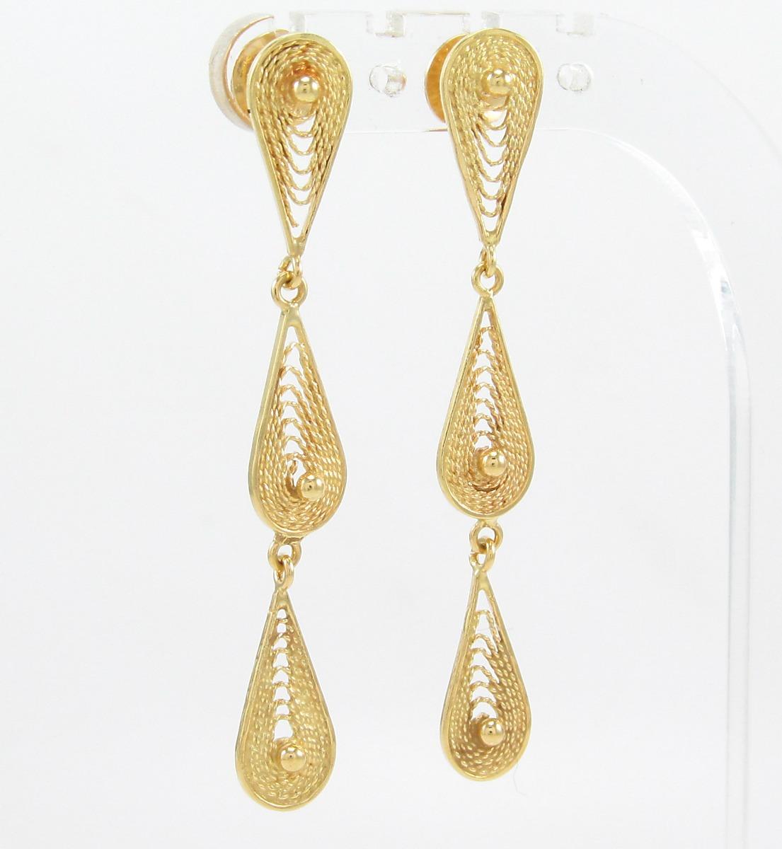 754b76cc028 esfinge jóias - brinco grife vivara pendente em ouro 18k 750. Carregando  zoom.