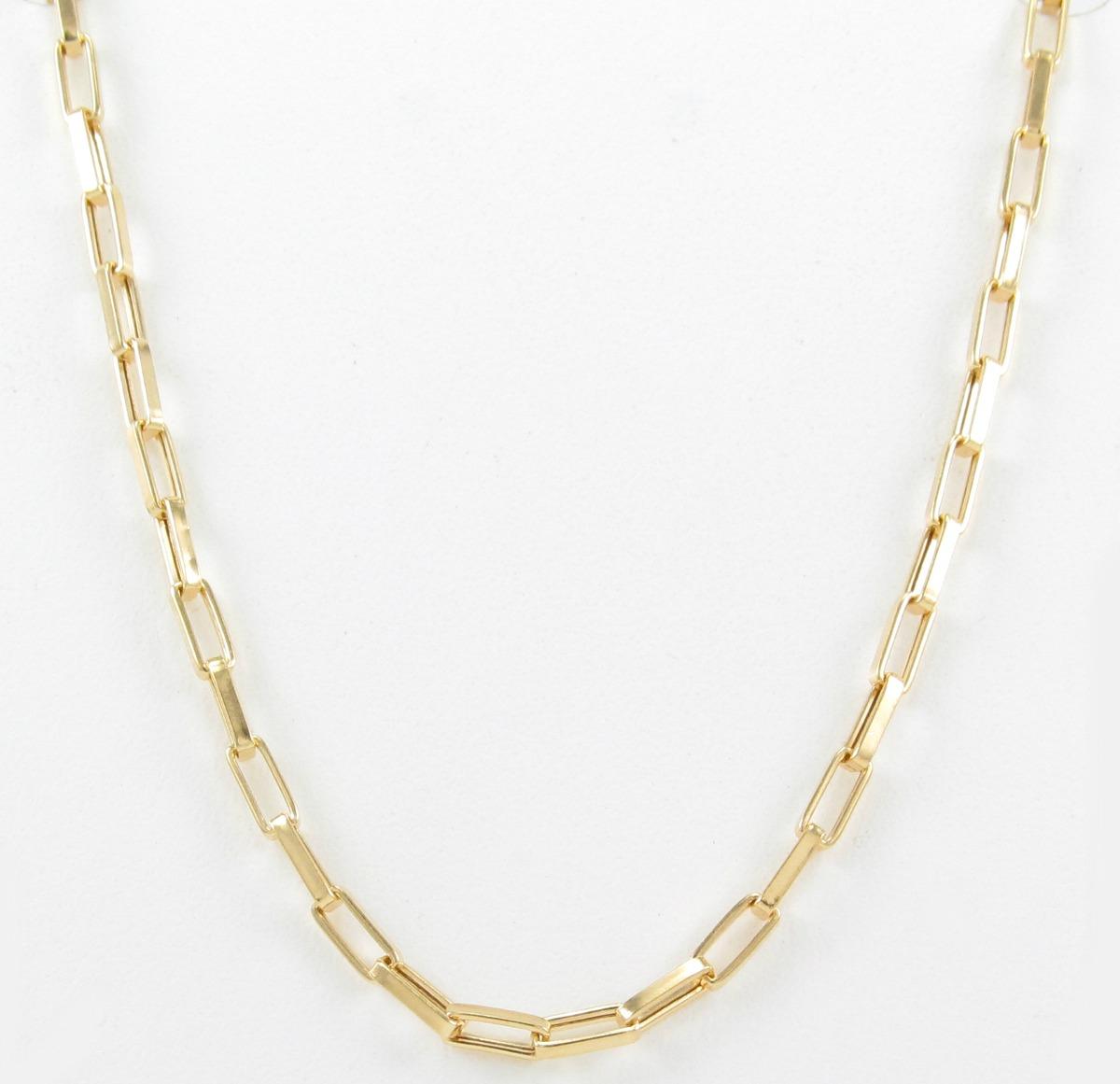 f88ff8a6cb672 Esfinge Jóias - Corrente Cartier De 60 Cm Em Ouro 18k 750. - R  780 ...