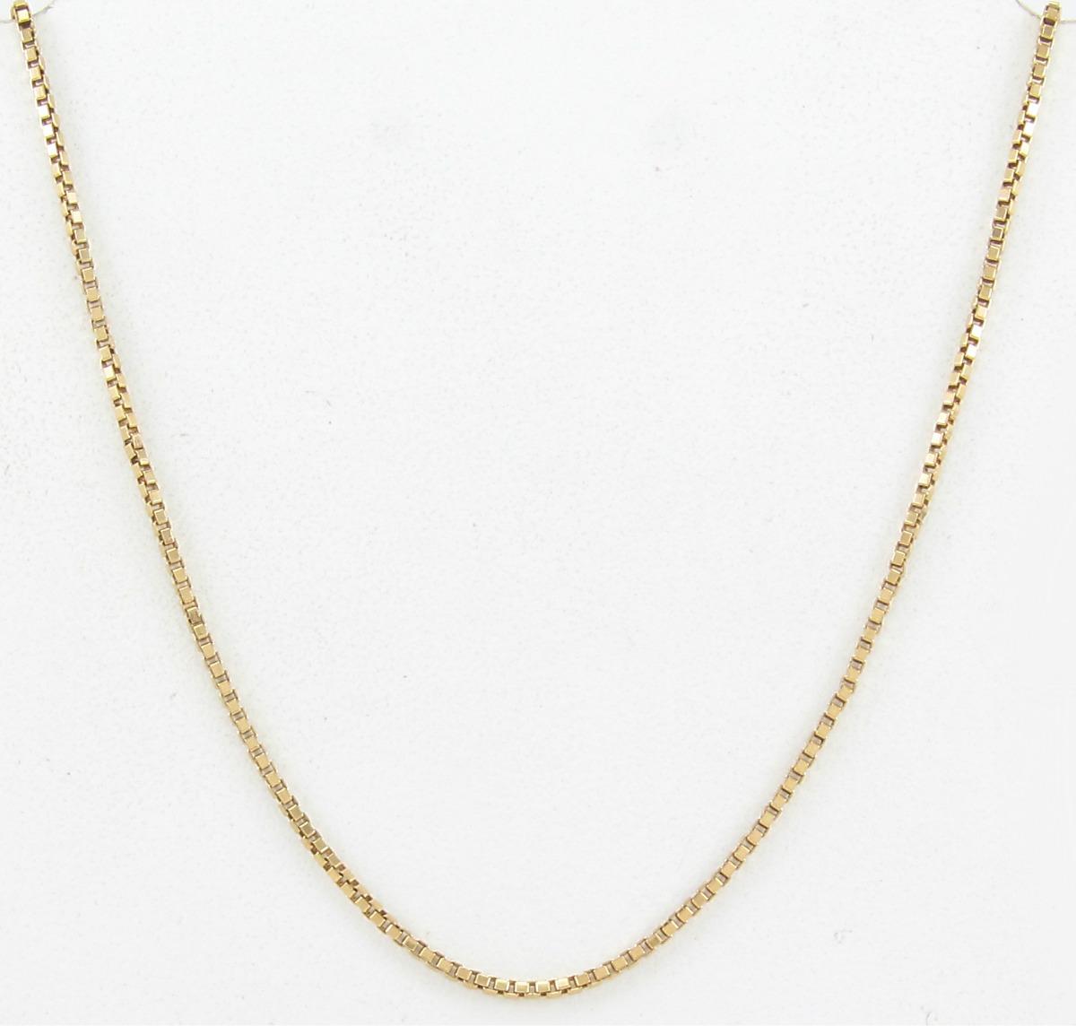 7b2a5b132c7eb esfinge jóias - corrente veneziana 52cm maciça ouro 18k 750. Carregando zoom .