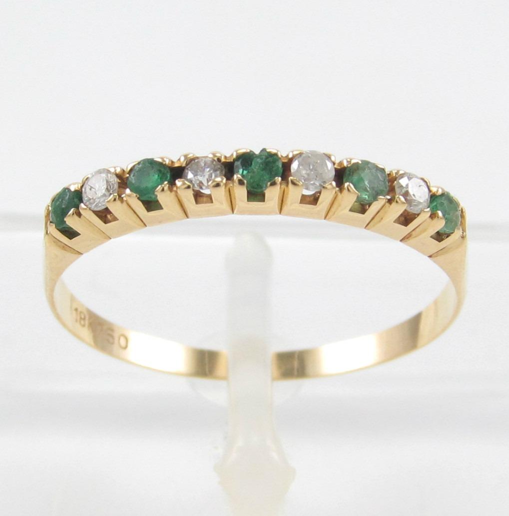 27ce4f16ee0a6 Esfinge Jóias- Meia Aliança Esmeralda Diamante Aro15 Ouro18k - R ...