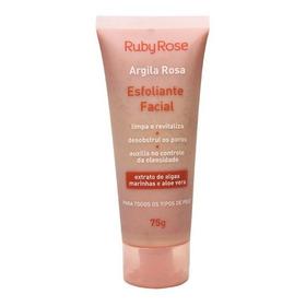 Esfoliante Facial Argila Rosa Ruby Rose Novidade