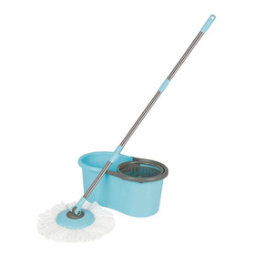 Esfregão Mop C/ Balde 13 Litros Mor Limpeza Prática Turqueza