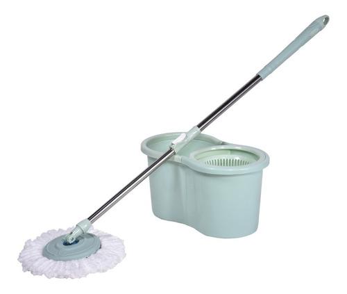 esfregão mop balde 6l c/ centrifuga articulável 360º begônia