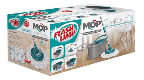 esfregão mop premium inox 4 litros limpeza mop5010 flashlimp