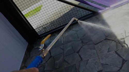 esguicho mangueira pressão jato longo 65cm com engate rápido