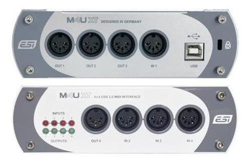 esi m4uxt interface midi 2.0 usb - 4 input 4 output