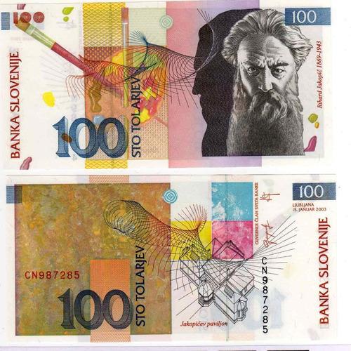 eslovenia - billete 100 tolarjev 2003 - unc oferta!!